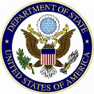 US State Department Seal with a link to report on Modern Slavery or Human Trafficking.